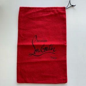 Christian Louboutin Red Logo Shoe Dust Storage Bag